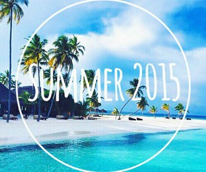 summer, 2015, and beach image