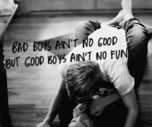 bad boy, black and white, and fun image