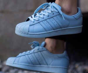 adidas, superstar, and blue image