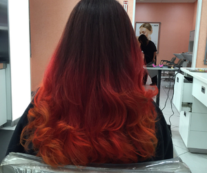 hair, red, and hair color image