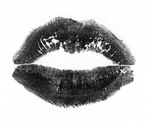 kiss, overlay, and lips image