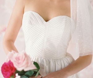 dress, flowers, and roses image