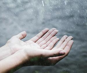 hands, rain, and grunge image