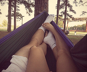 hammock, outdoor, and trees image