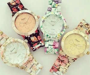 watch and flowers image
