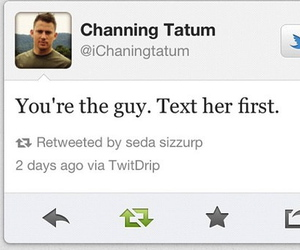 text, channing tatum, and guy image