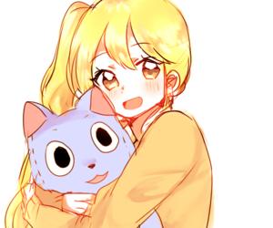 anime, stuffed animal, and anime girl image