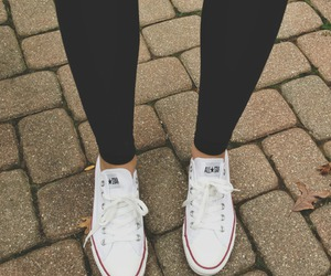 converse, girl, and white image
