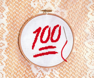 100, craft, and needlepoint image