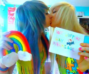 rainbow, lesbian, and gay image