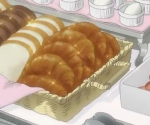 anime, art, and bread image