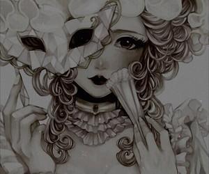 anime, mask, and anime girl image