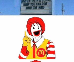 funny, McDonalds, and burger king image