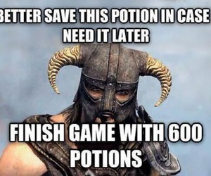 funny, gamer, and skyrim image