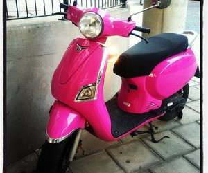 moped and pink image