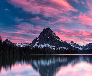 landscape, mountains, and sky image