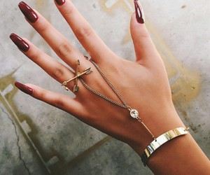 nails, red, and accessories image
