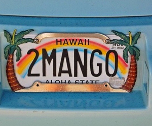 hawaii, rainbow, and mango image