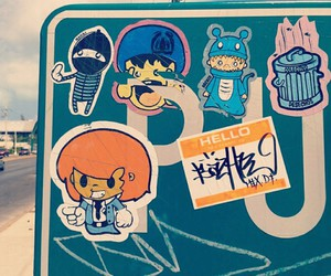 stickers, street art, and mi ciudad image