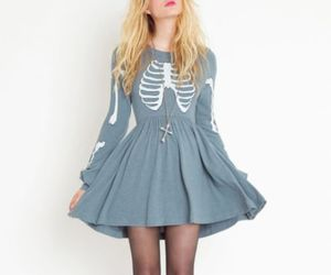 dress, skeleton, and outfit image