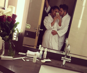 love, couple, and hotel image