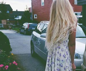 girl, dress, and love image