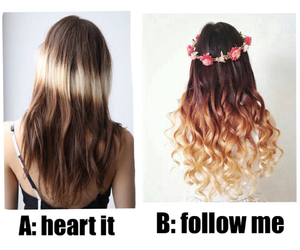 beauty, hair, and follow image