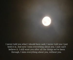 moon, text, and love image