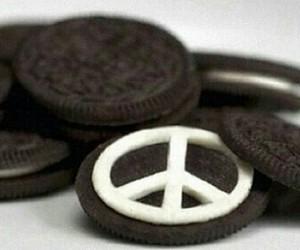 oreo, peace, and food image