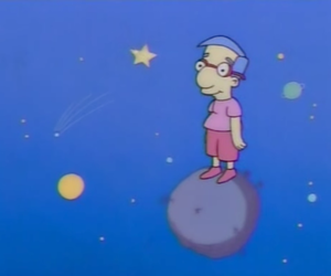 simpsons, milhouse, and space image