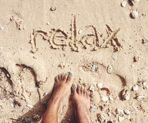 relax, beach, and sand image
