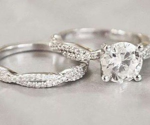 girls, rings, and wedding image