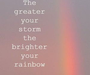 inspiring, quotes, and rainbow image