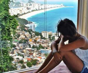 beach, brasil, and girl image