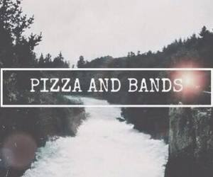 band, pizza, and life image