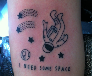 tattoo, space, and stars image
