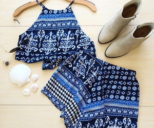 outfit, summer, and blue image