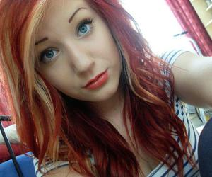 girl, redhair, and hair image
