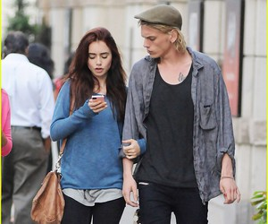 f, Jamie Campbell Bower, and lily collins image