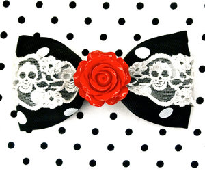 alternative, red rose, and bow image