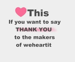 heart, thank you, and weheartit image