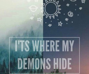 demon and quote image