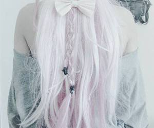 hair, style, and pastel image