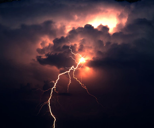 storm, lightning, and sky image