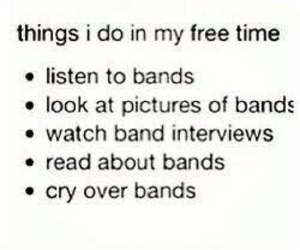 band and free time image
