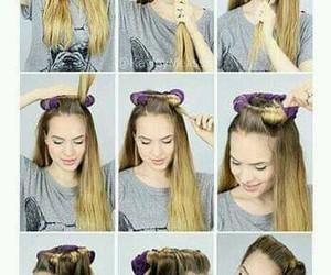 diy, hairstyle, and look image