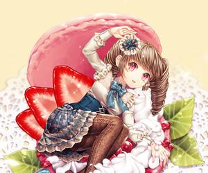anime, kawaii, and macaroon image