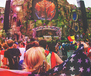 Tomorrowland, music, and rave image