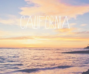 beach, california, and summer image