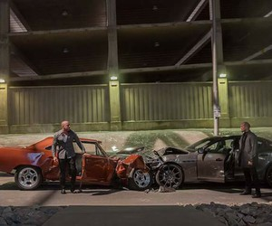 Jason Statham, Vin Diesel, and fast and furious 7 image